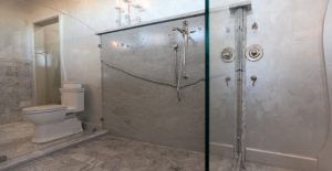 concrete shower wall for hotels